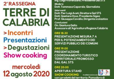 Terre di Calabria, rassegna del Gal STS Savuto-Tirreno-Serre Cosentine il 12 agosto a Belmonte Calabro
